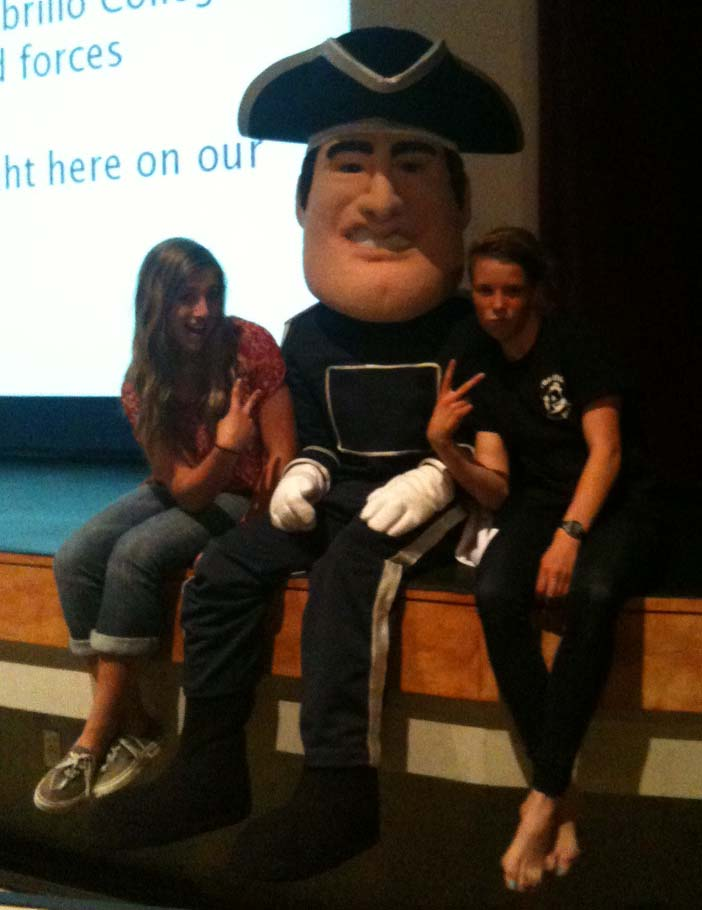 live mascot with Erin and Niki 5_10_12.jpg
