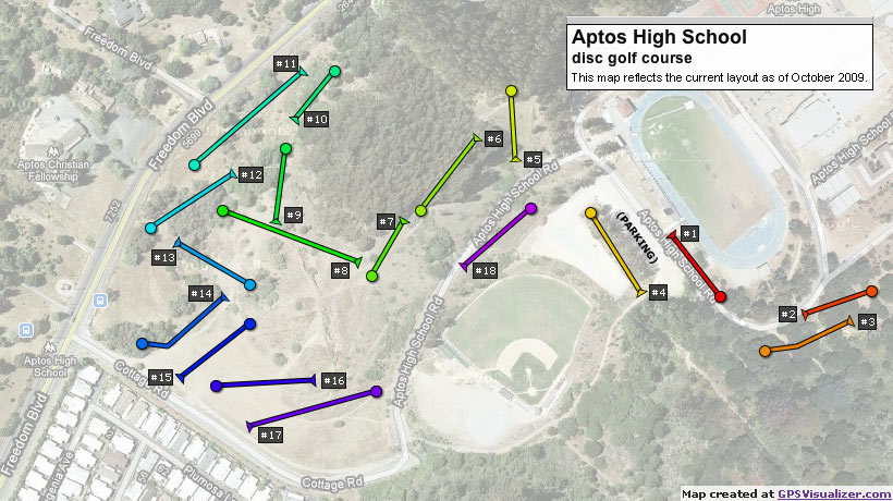 AHS Disc Golf Course Map