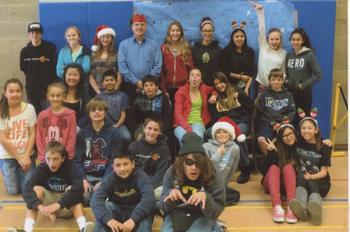7th grade students with science teacher Mr. Altenberg, AJHS, December 2013